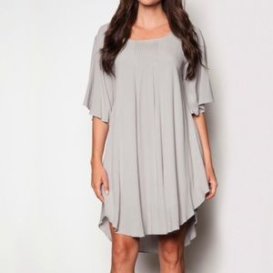 Pink Martini Flowy Grey Tunic Mini Dress